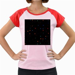 Awesome Allover Stars 02e Women s Cap Sleeve T-Shirt