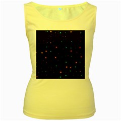 Awesome Allover Stars 02e Women s Yellow Tank Top