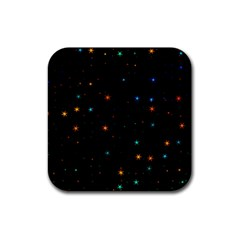 Awesome Allover Stars 02e Rubber Coaster (Square)