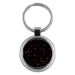 Awesome Allover Stars 02e Key Chains (Round)