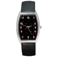 Awesome Allover Stars 02e Barrel Style Metal Watch