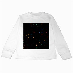 Awesome Allover Stars 02e Kids Long Sleeve T-Shirts