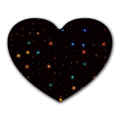 Awesome Allover Stars 02e Heart Mousepads