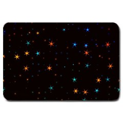 Awesome Allover Stars 02e Large Doormat