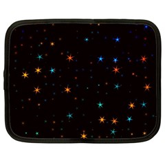 Awesome Allover Stars 02e Netbook Case (Large)
