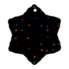 Awesome Allover Stars 02e Snowflake Ornament (Two Sides)