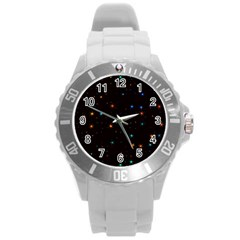Awesome Allover Stars 02e Round Plastic Sport Watch (L)
