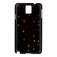 Awesome Allover Stars 02e Samsung Galaxy Note 3 N9005 Case (Black)