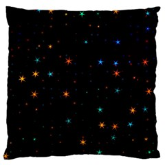 Awesome Allover Stars 02e Large Flano Cushion Case (One Side)