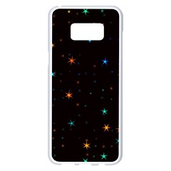 Awesome Allover Stars 02e Samsung Galaxy S8 Plus White Seamless Case