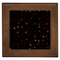 Awesome Allover Stars 02f Framed Tiles