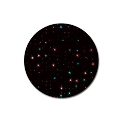 Awesome Allover Stars 02f Magnet 3  (Round)