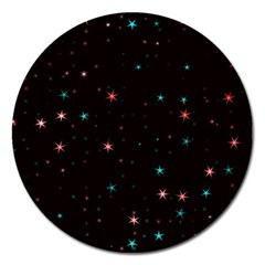 Awesome Allover Stars 02f Magnet 5  (Round)