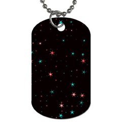 Awesome Allover Stars 02f Dog Tag (Two Sides)