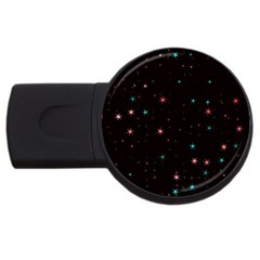 Awesome Allover Stars 02f USB Flash Drive Round (1 GB)