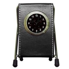 Awesome Allover Stars 02f Pen Holder Desk Clocks
