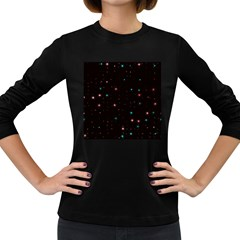 Awesome Allover Stars 02f Women s Long Sleeve Dark T-Shirts
