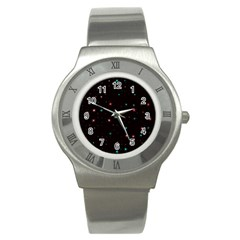 Awesome Allover Stars 02f Stainless Steel Watch