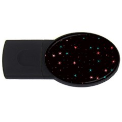 Awesome Allover Stars 02f USB Flash Drive Oval (4 GB)