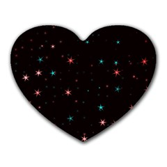 Awesome Allover Stars 02f Heart Mousepads