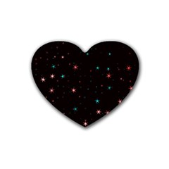 Awesome Allover Stars 02f Rubber Coaster (Heart)