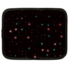 Awesome Allover Stars 02f Netbook Case (Large)