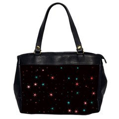 Awesome Allover Stars 02f Office Handbags (2 Sides)