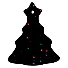 Awesome Allover Stars 02f Ornament (Christmas Tree)