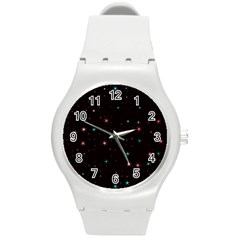 Awesome Allover Stars 02f Round Plastic Sport Watch (M)