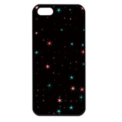 Awesome Allover Stars 02f Apple iPhone 5 Seamless Case (Black)