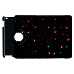 Awesome Allover Stars 02f Apple iPad 2 Flip 360 Case