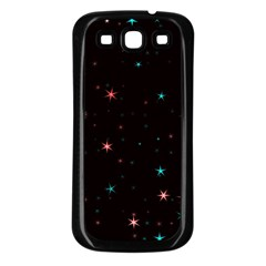 Awesome Allover Stars 02f Samsung Galaxy S3 Back Case (Black)