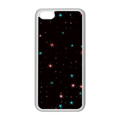 Awesome Allover Stars 02f Apple iPhone 5C Seamless Case (White)