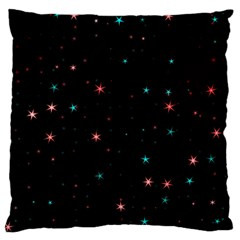 Awesome Allover Stars 02f Standard Flano Cushion Case (One Side)