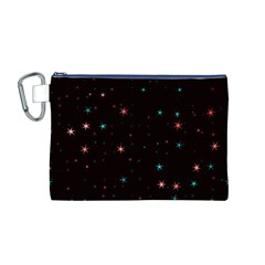 Awesome Allover Stars 02f Canvas Cosmetic Bag (M)