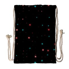 Awesome Allover Stars 02f Drawstring Bag (Large)
