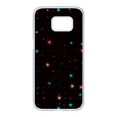 Awesome Allover Stars 02f Samsung Galaxy S7 edge White Seamless Case