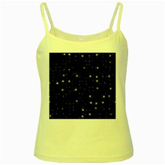 Awesome Allover Stars 02a Yellow Spaghetti Tank