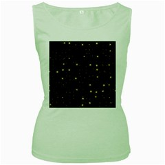 Awesome Allover Stars 02a Women s Green Tank Top