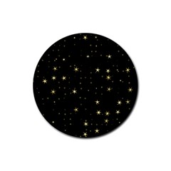 Awesome Allover Stars 02a Rubber Coaster (Round)