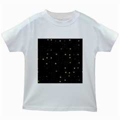 Awesome Allover Stars 02a Kids White T-Shirts