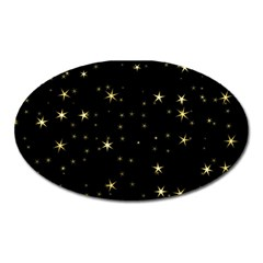 Awesome Allover Stars 02a Oval Magnet