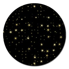 Awesome Allover Stars 02a Magnet 5  (Round)