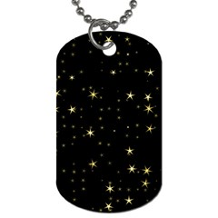Awesome Allover Stars 02a Dog Tag (One Side)