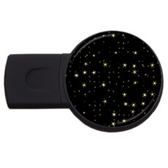 Awesome Allover Stars 02a USB Flash Drive Round (2 GB)