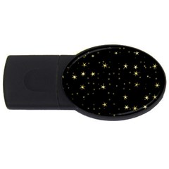 Awesome Allover Stars 02a USB Flash Drive Oval (1 GB)