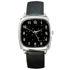 Awesome Allover Stars 02a Square Metal Watch