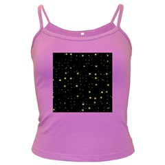 Awesome Allover Stars 02a Dark Spaghetti Tank