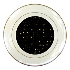 Awesome Allover Stars 02a Porcelain Plates