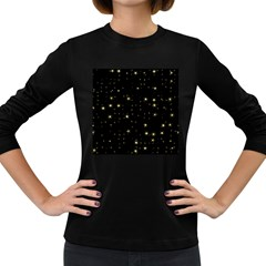 Awesome Allover Stars 02a Women s Long Sleeve Dark T-Shirts